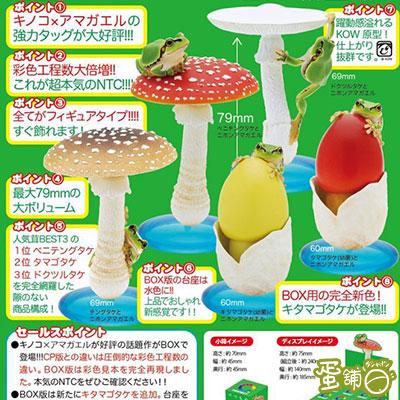 菇類與雨蛙公仔