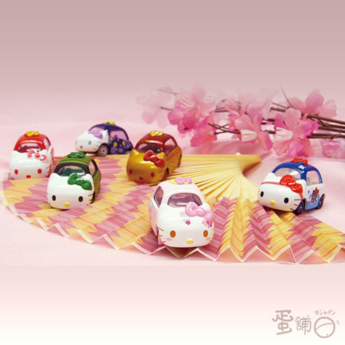 Dream Tomica-和風彩繪KITTY車(全套)