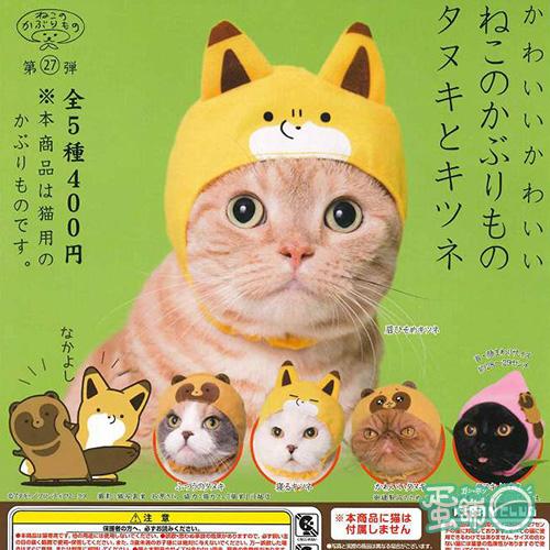 貓咪專屬頭巾P23-狸貓與狐狸篇
